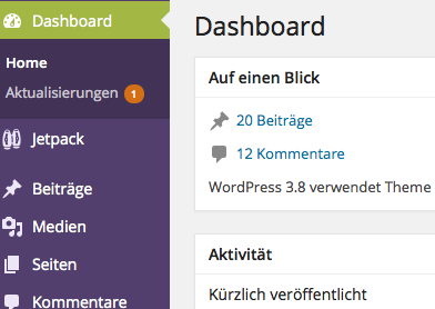 Wordpress 3.8. Design