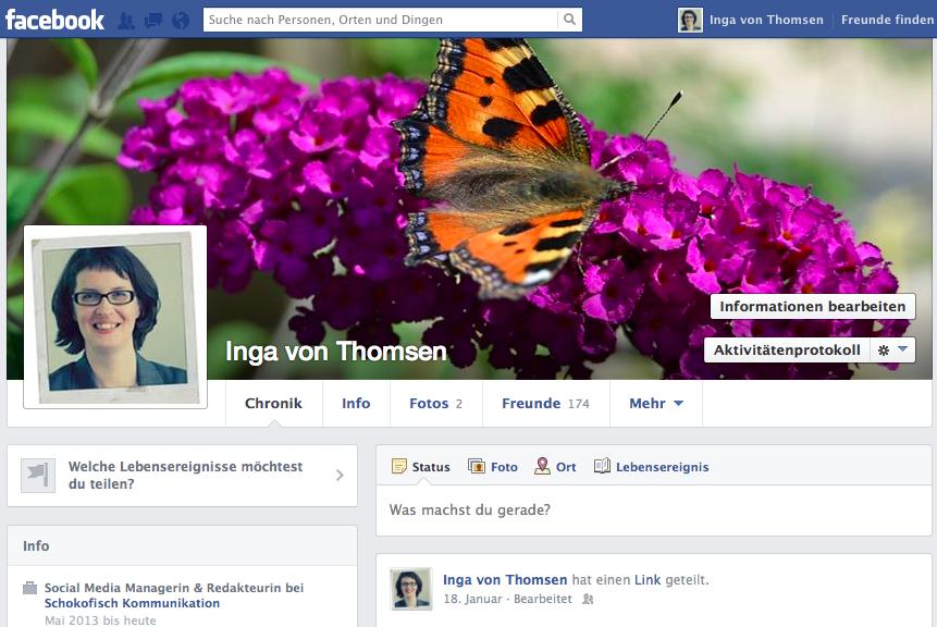 Facebook: Persönliches Profil