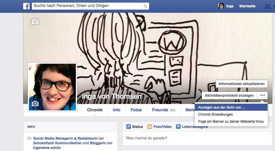Facebook Profileinstellung