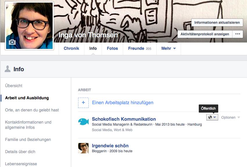 FAcebook-Profileinstellungen