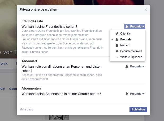 Facebook-Freundesliste bearbeiten